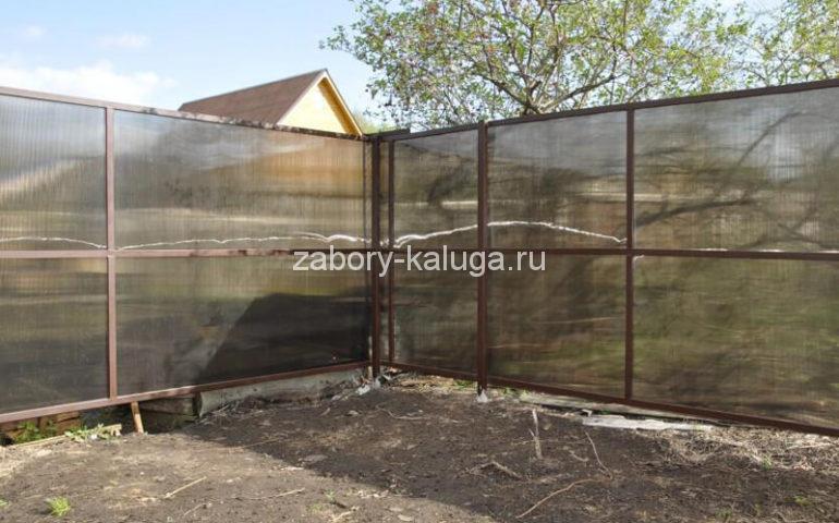 забор из поликарбоната в Калуге