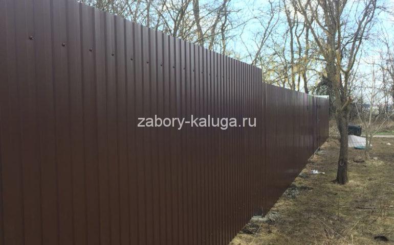 забор из профлиста в Калуге